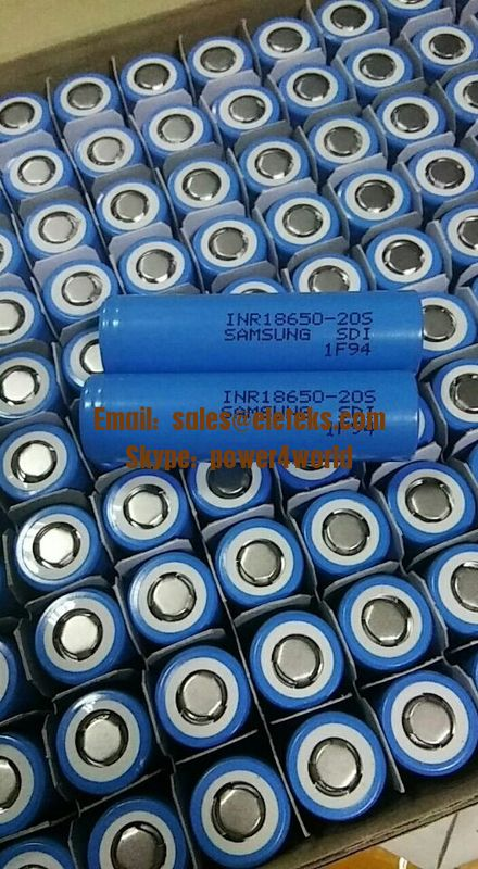 New: Authentic Samsung INR18650-20S 2000mAh (Blue) 30A high discharge current 3.7V Lithium-ion rechargeable batteries